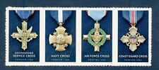 5065-68 The Service Cross Medals Strip Of 4 Mint/nh (Free shipping offer)