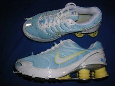Nike Shox Turbo + VI 6 Sneakers Blue White Yellow Womens 7 Running Shoes Ipod