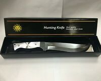 """11.8"""" Tactical Survival Hunting Knife With Sheath Military Combat Fixed Blade"""