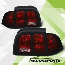 1994 1995 1996 1997 1998 Ford Mustang Smoke Red Brake Tail Lights Lamps Pair