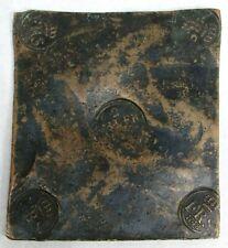 1748 COPPER SWEDEN 2 DALER SILVERMYNT SQUARE PLATE MONEY FREDERICK I