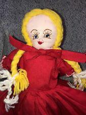 "Vintage Topsy Turvy 18"" Doll Little Red Riding Hood Grandma Wolf Dippity Flip?"