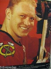 "1991 Bobby Hull 1 Page Magazine Picture-8.5 x 10.5""Original-Chicago Blackhawks"