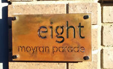 Rusted Steel Corten Steel Letter Box Sign Plaque Laser Cut Size: 450mm x 250mm