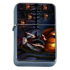 Hot Anime Witches D5 Flip Top Dual Torch Lighter Wind Resistant
