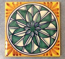 Deruta Pottery-3,7/8inch Tile vario Pattern made/painted byhand-Italy.