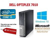 DELL 7010 i5 3RD GEN QUAD CORE 3.4GHz SSD HDD DVD USB3  COMPUTER WIFI WIN 10