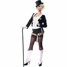ADULT WOMEN'S SEXY BURLESQUE TUXEDO SHOWGIRL COSTUME - SIZE XS (0-2)