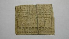 1760 Five Shillings North Carolina NC Colonial Currency Note Bill! RARE 5s! July