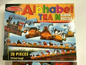 Alphabet Train Floor Puzzle Lg 28 Pc Letters Animals Jigsaw Melissa & Doug Toy