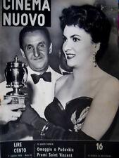 Cinema Nuovo 16 1953 Premiati a Saint Vincent: L. Zampa e la Lollobrigida [C52]
