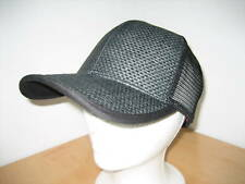 New Headers 100% Natural Fiber Ball Cap - Black Truckers Hat - osfm Adjustable