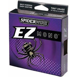 Spiderwire EZ Mono Fishing Line 8# (220 yds) - Fluorescent Clear/Blue