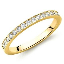 Wedding Excellent Cut Yellow Gold SI2 Fine Diamond Rings