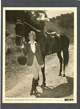 JOAN BENNETT IN ENGLISH RIDING CLOTHES + HORSE WITH ENGLISH SADDLE - NM 1935