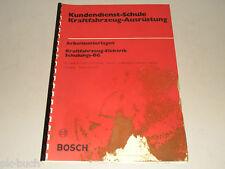 Schulungsunterlage Bosch Kundendienst Schule Getriebe Steuerung Opel Vectra 1989