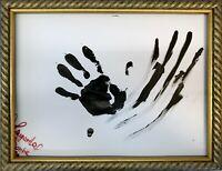Margarita Bonke Malerei PAINTING black white schwarz weiß schadow hand A3 dark