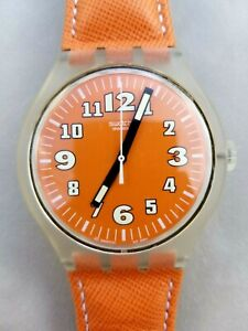 Rare Swatch Squeezed Pumpkins X-Large - Men / Women / Unisex - Orange Leather