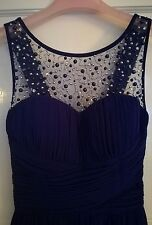 Stunning navy size 10 bridesmaid prom gown cocktail dress. Little Mistress.
