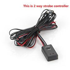 2 Ways LED Strobe Flash Light Lamp Emergency Flashing Controller Box 12V Car