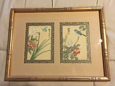Antique Chinese Double Paint Framed - YU YU