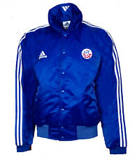 Mens Large ADIDAS Hansa Rostock Bomber Jacket Coat Winter Stripe Shirt football