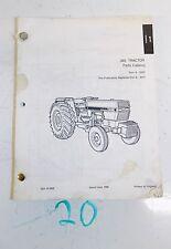 CASE IH 385 Tractor Parts Catalog 8-3332 6/88