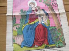 GRANDE IMAGE D' EPINAL PELLERIN 1900 LA TRES SAINTE VIERGE RELIGIEUX  42X64