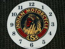 """*NEW*14.25"""" INDIAN MOTORCYCLES ROUND GLASS FACE FOR PAM CLOCK HARLEY"""