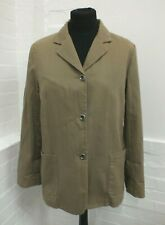 Toast Camel Brown Pure Cotton Single Breasted Blazer Jacket Size 14 (Yar)