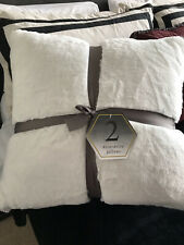 Luxurious Decorative Pillows Set of 2 White Soft & Comfy! Sold Out!