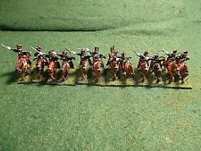 15mm Napoleonic 16x French Hussars with shakos painted based for Age of Eagles.
