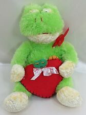 "15"" Valentine Frog Plush Stuffed Animal Kuddle Me Toys New with Tags 1999 age 3+"