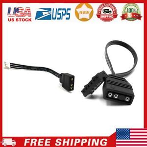 Small 4Pin/6Pin to 5V ARGB 3Pin Fan Controller Adapter Cable for Coolmoon USA