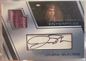 Star Trek Inflexions Enterprise Jolene Blalock Autograph Costume Relic