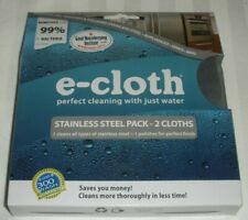 E-CLOTH STAINLESS STEEL PACK - 2 CLOTHS 10617