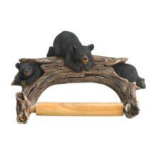 HOME BATHROOM DECOR BLACK BEAR TOILET PAPER HOLDER