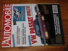 $$$ Revue L'automobile magazine N°503 VW PassatPorsche 964 4x4Cadillac 452