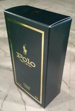 POLO RIDER Green Bottle BOX ONLY Ralph Lauren AFTER SHAVE  2 Oz EMPTY