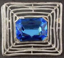 Park Lane Set Pin Earrings Silver Tn Blue Stones