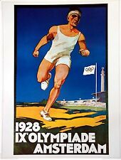 """Olympic Poster 31.5""""x 23.25"""" (80 x 59 cm) LARGE Size reproduction 1928 Amsterdam"""