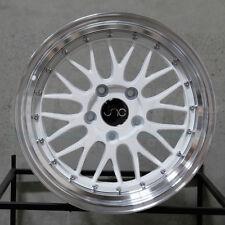 18x9 JNC JNC005 005 5x112 34 White Machine Lip Wheel New set(4)