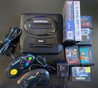 SEGA Genesis 2 Bundle, All Authentic And Tested, 7 Games, 2 Controllers