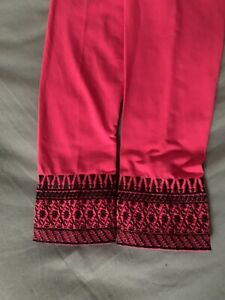 Khaadi Women' Embroidered Stretchable Tights Pink Brand New