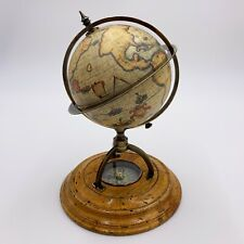 Vintage Terrestrial World Globe With Compass
