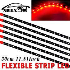 6X 15 SMD 12V 30CM High Power Waterproof Car Motor Flexible LED Light Strip Red