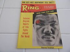 "THE RING  MAGAZINE  ""GEORGE FOREMAN COVER""  1974"