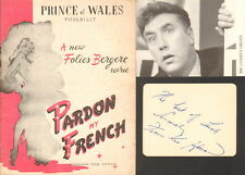 PARDON my FRENCH-UP POMPEII-SIGNED ALBUM PAGE/CARD BY FRANKIE HOWERD-AFTAL/UACC