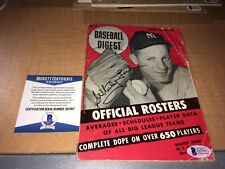 Whitey Ford New York Yankees Signed 1954 Baseball Digest BAS Beckett Certified