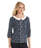 Disney a collection by LC Lauren Conrad Blouse Top Navy White S $64.95